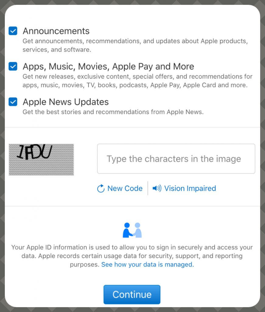 How To create your Apple ID on the Web guide
