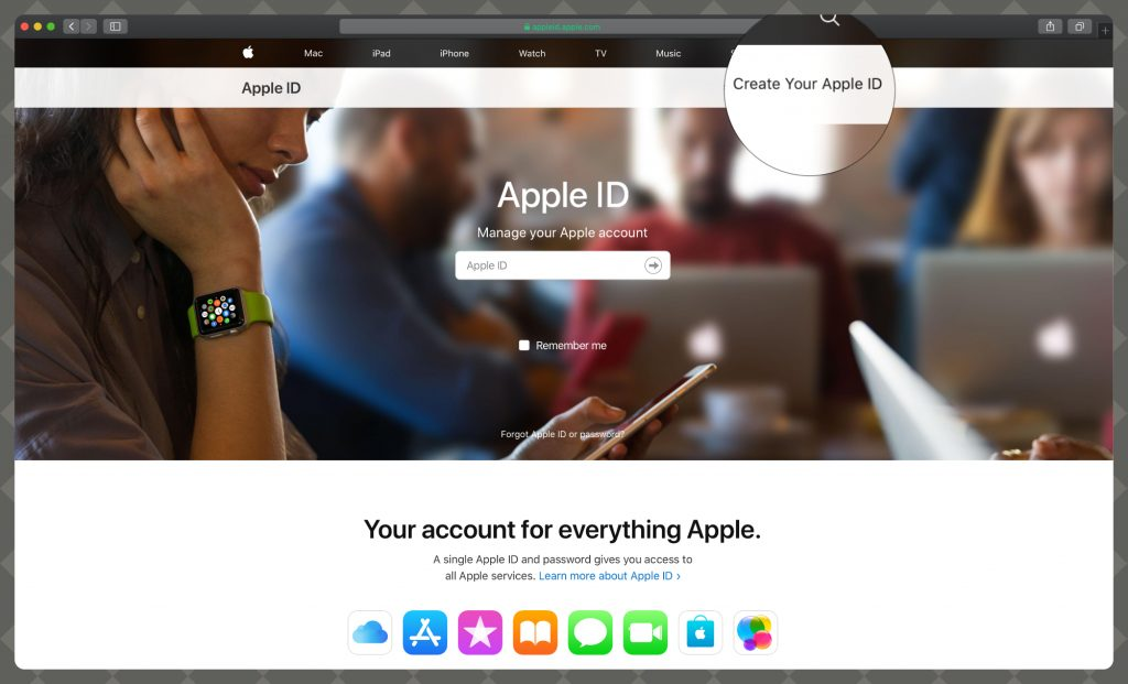 How to create Your Apple ID on the Web
