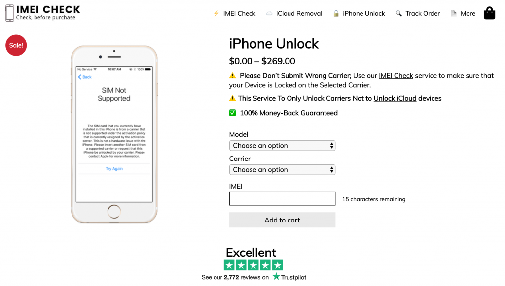 iPhone Unlock Service with IMEI Check
