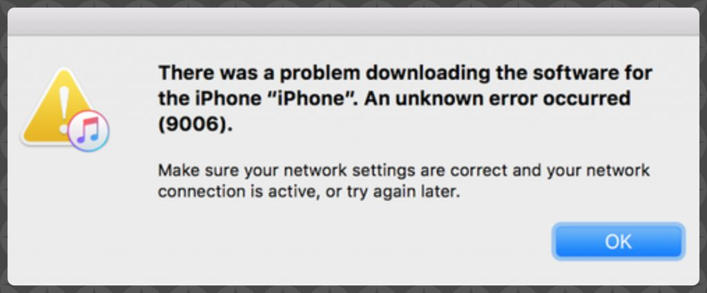 Fix iTunes error 9006