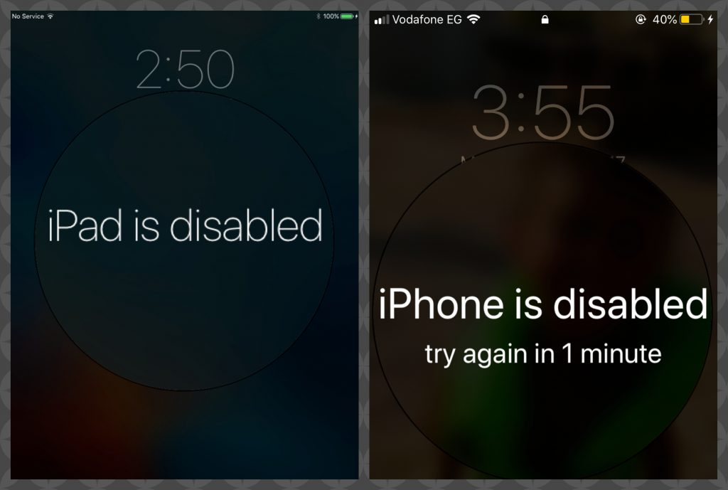 Disabled iPhone / iPad
