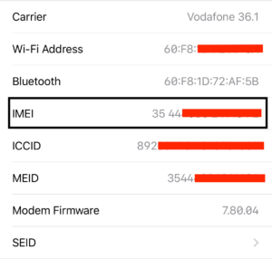IMEI Number, iPhone IMEI Number